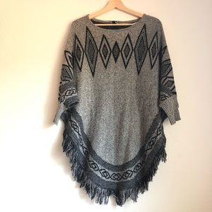Style and Co fringe boho poncho